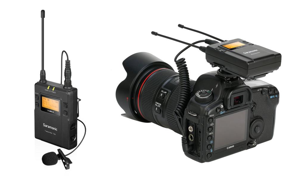 Безжичен микрофон тип брошка Saramonic UwMic9 приемник и предавател